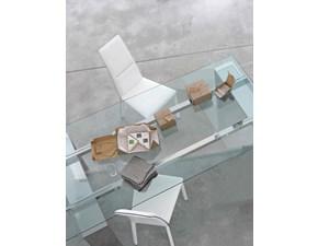 Bonaldo sedia Lyu cuoio bianco