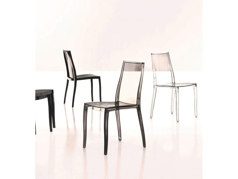 Bonaldo 4 sedie Pangea in plastica moderna impilabile