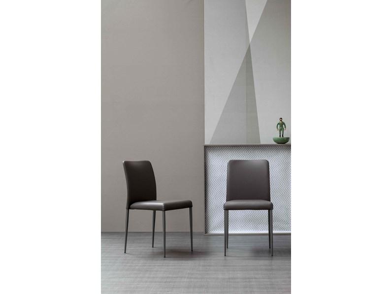 Bonaldo sedie deli ecopelle moderne schienale alto