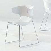 Desalto sedia set 4 sedie con braccioli koki 707 plastica for Sedia koki desalto