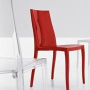 sedia bonaldo pangea plastica trasparente design