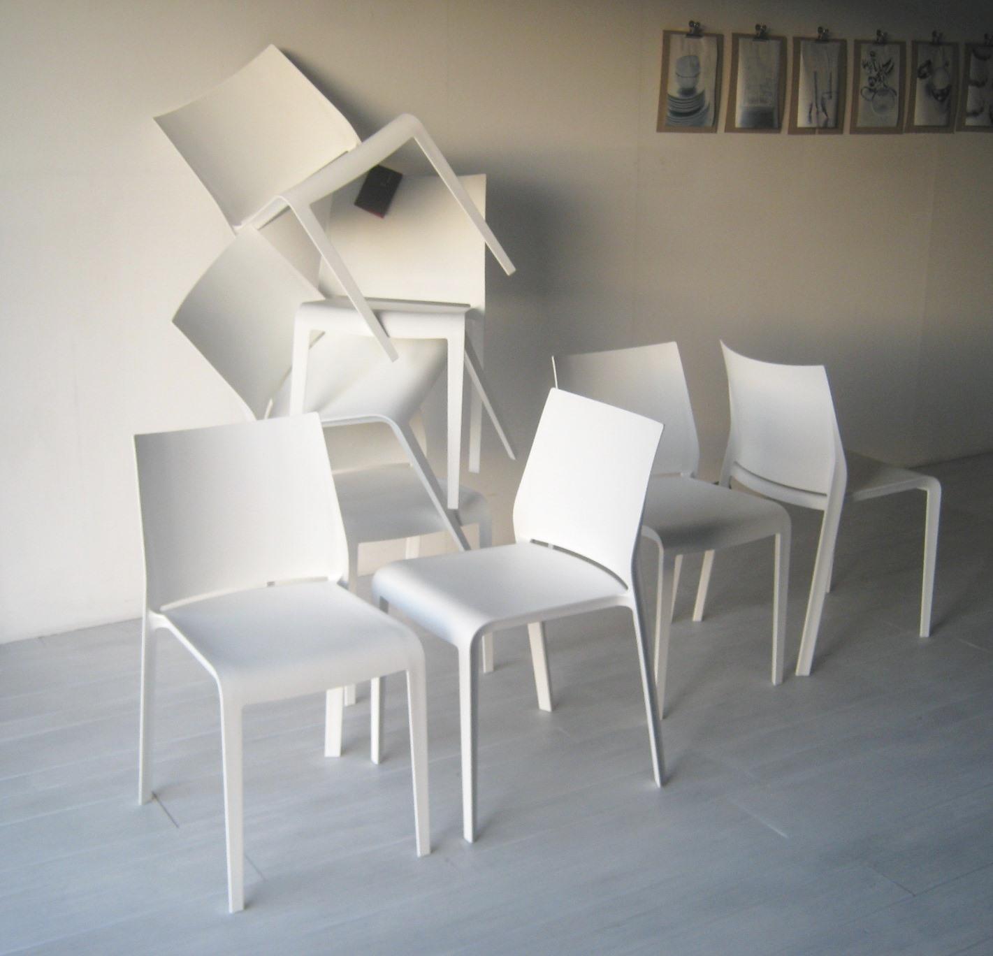 Sedia desalto set 4 sedie riga impilabili desalto outlet for Sedie design outlet
