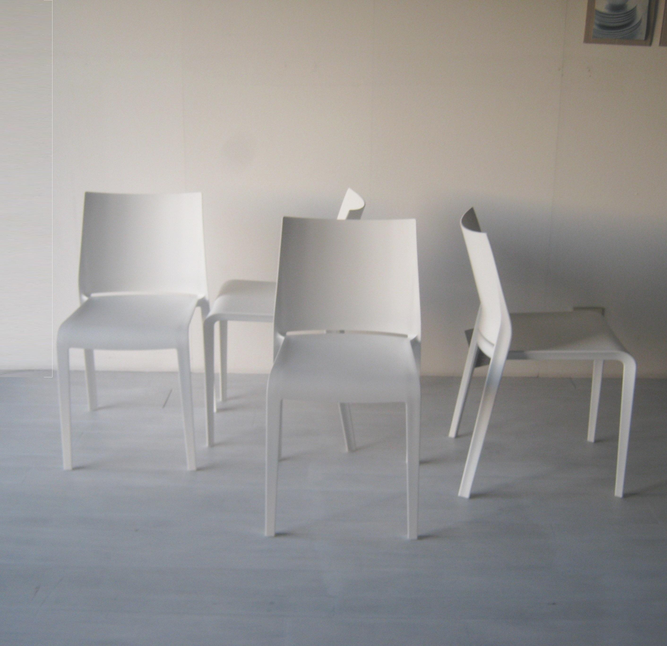 Sedia desalto set 4 sedie riga impilabili desalto outlet for Outlet sedie ufficio