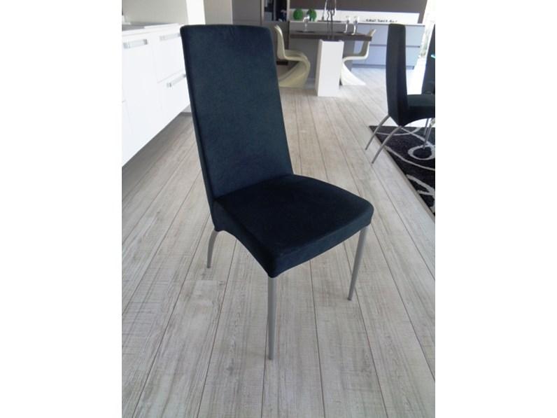 Sedia 4 sedie modello eva tessuto nero struttura metallo verniciato ...