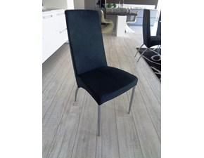 Eurogroup Sedia 4 sedie modello eva tessuto nero struttura metallo verniciato scontato del -72 %