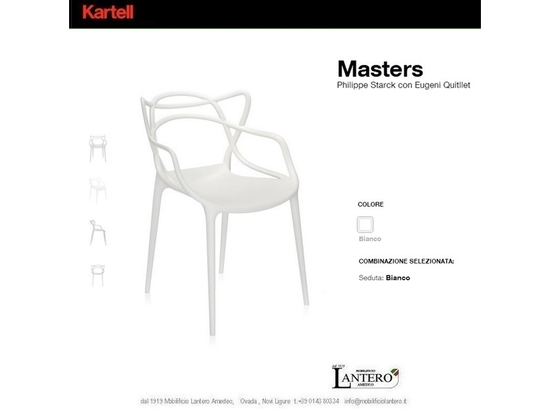 Kartell Trova prezzo kartell , sedie masters , kartell art. 5866