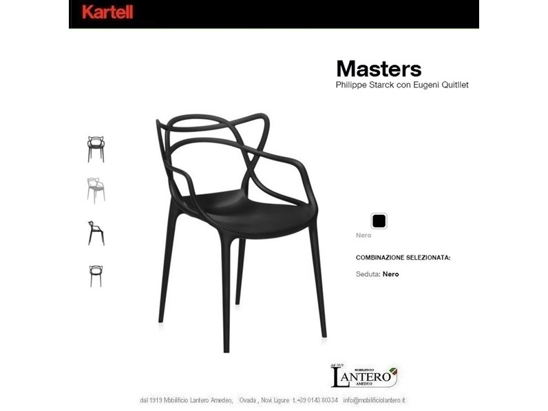 best sedie masters kartell pictures. Black Bedroom Furniture Sets. Home Design Ideas