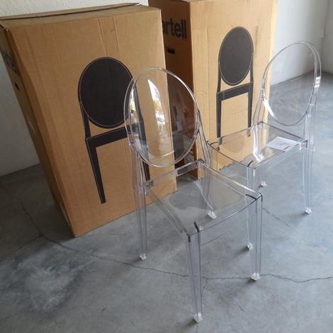 Sedia kartell vendita online victoria ghost set 4 sedie for Outlet kartell online