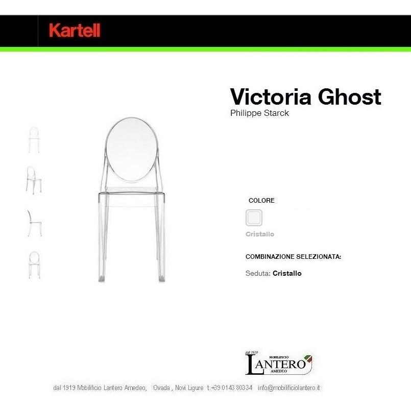 Sedia kartell vendita online victoria ghost set 4 sedie for Sedie plastica design kartell
