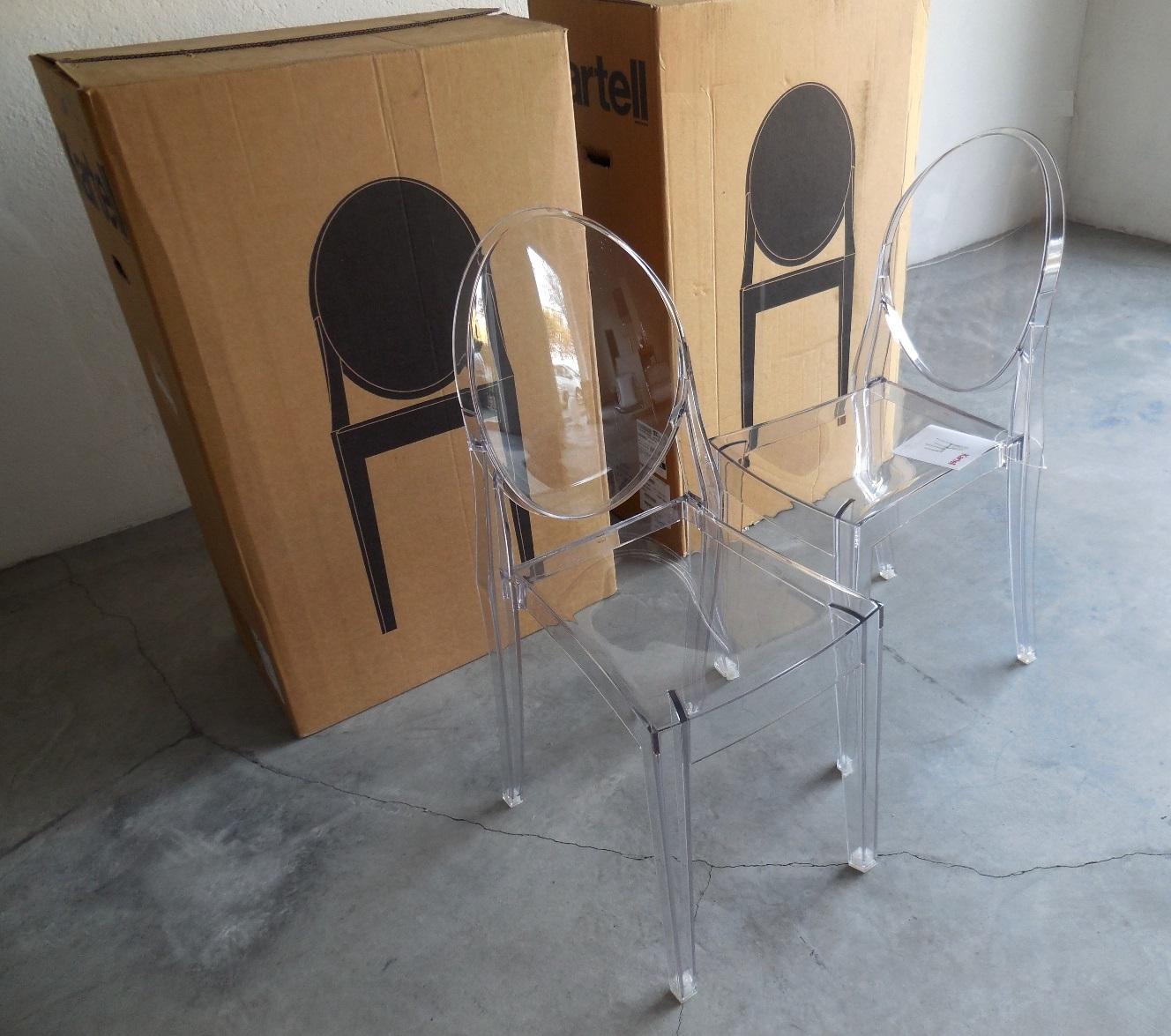 Sedia kartell vendita online victoria ghost set 4 sedie for Sedie design kartell