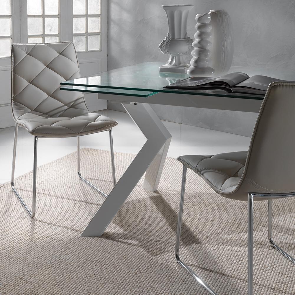 La seggiola sedia giada ecopelle design senza braccioli for La sedia nel design