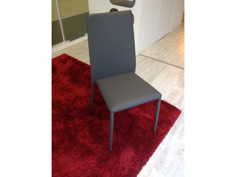 sedie ecopelle grigio antracite 42