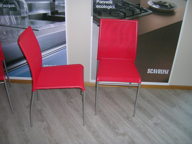 sedie scavolini outlet : Sedia SCAVOLINI mod. AVENUE : struttura in metallo verniciato grigio ...