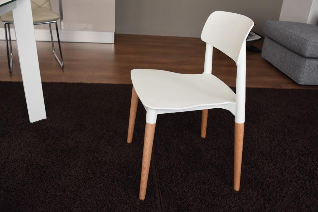 Offerta sedia elios piedi in legno seduta in plastica for Offerta sedie legno
