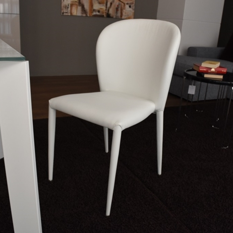 Offerta sedia famy in ecopelle bianca sedie a prezzi for Sedie in ecopelle
