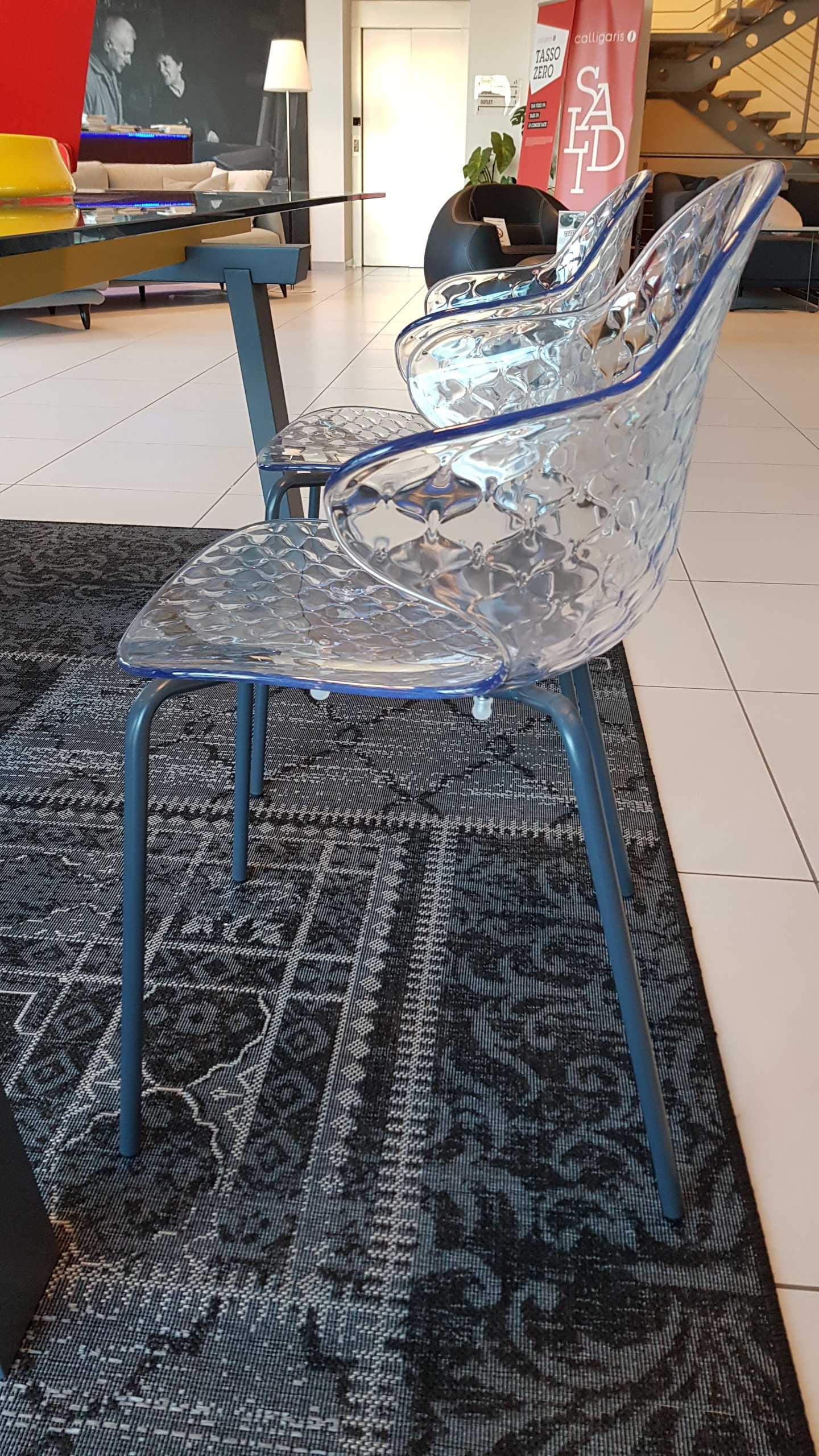 Outlet sedia calligaris saint tropez trasparente sedie a for Sedie design outlet