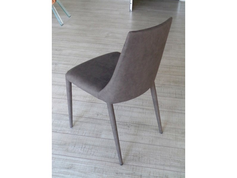 Ozzio sedia 4 sedie aperol imbottita e rivestita ecopelle for Sedie di marca