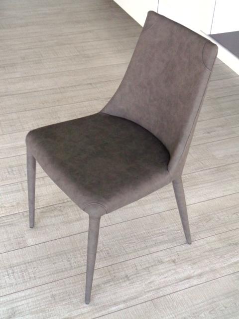 Ozzio sedia 4 sedie aperol imbottita e rivestita ecopelle for Sedia imbottita ecopelle