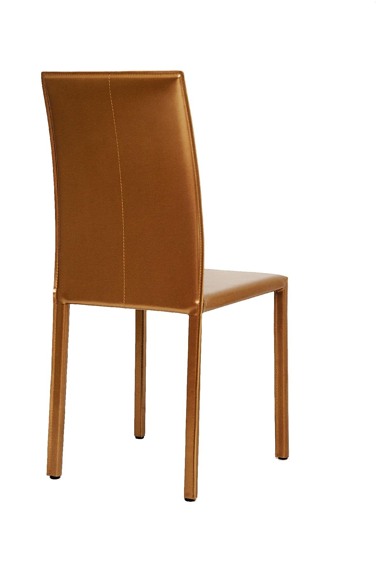 Sedia in cuoio city di ozzio sedie a prezzi scontati for Sedie cuoio prezzi