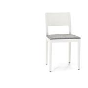 Sedia Seida laccata bianco seduta imbottita