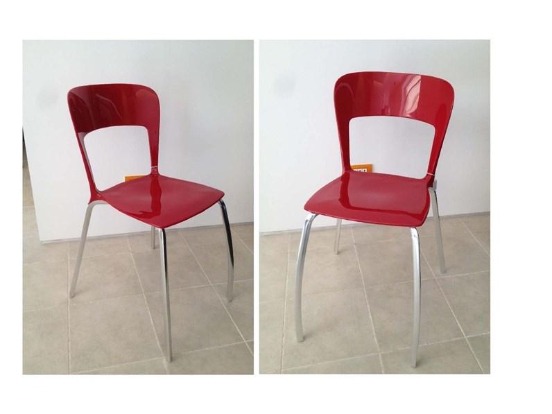 Sedie rosse calligaris sedie per cucina prezzi beautiful for Sedie rosse cucina