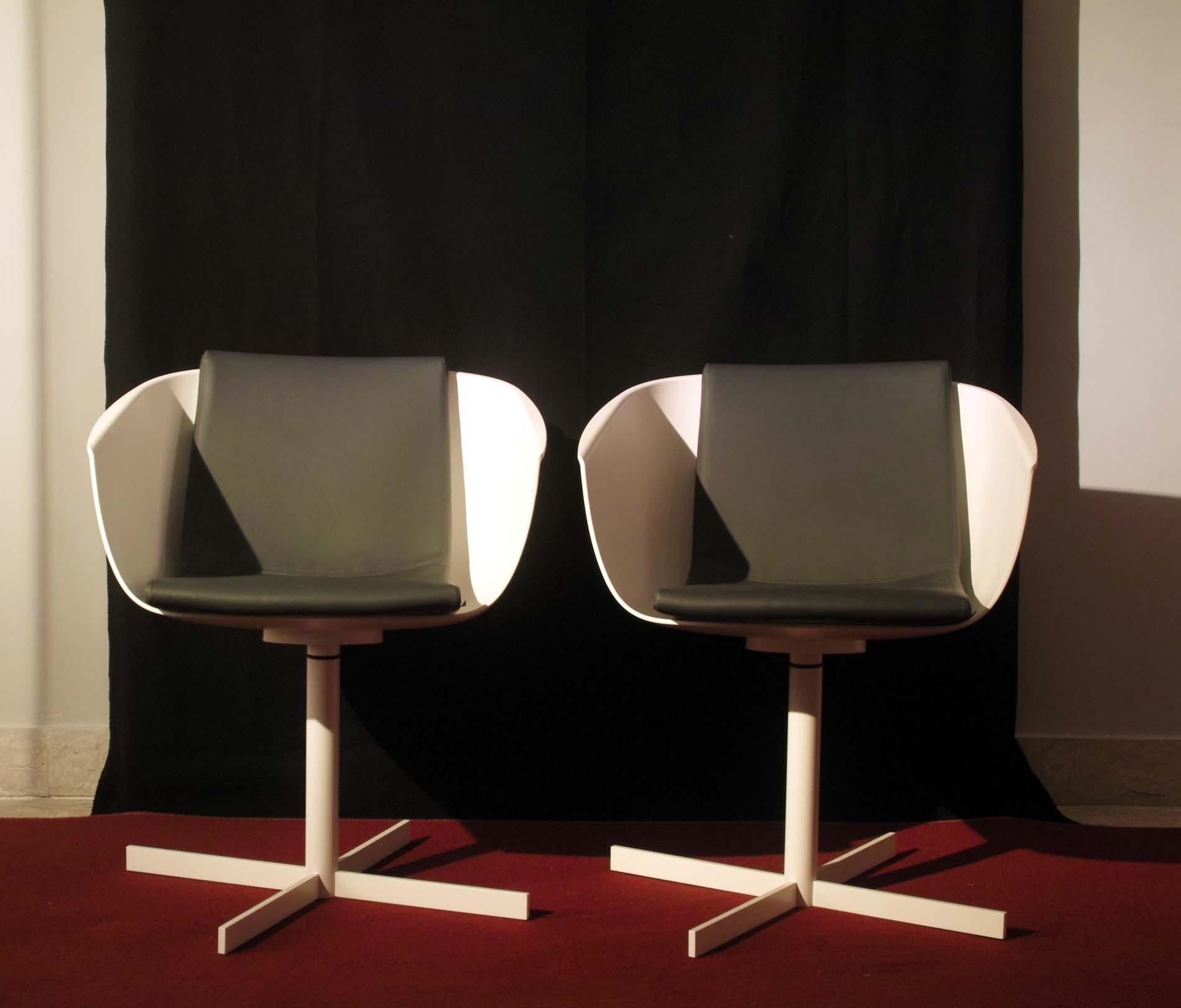 Poliform sedia strip poltroncina bianca scontato del 31 for Poliform sedie