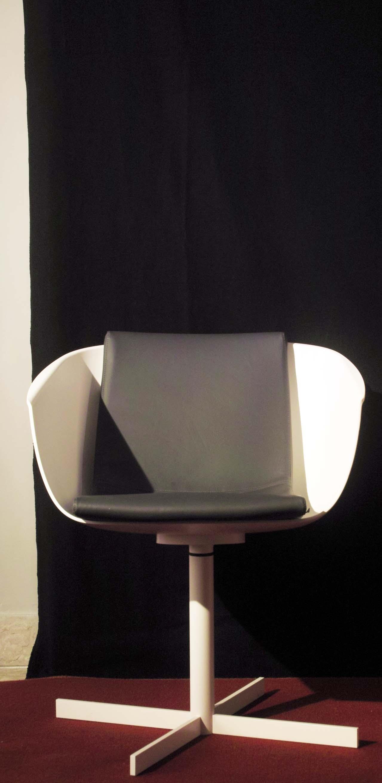 Poliform sedia strip poltroncina bianca scontato del 31 for Outlet arredamento it