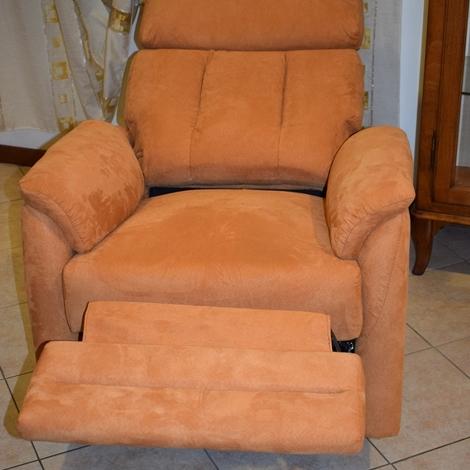 Poltrona relax manuale modello boston rivestimento in for Rivestimento sedie