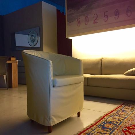 Poltroncina da soggiorno o camera giellebi minni 4 in for Sedie in pelle da soggiorno