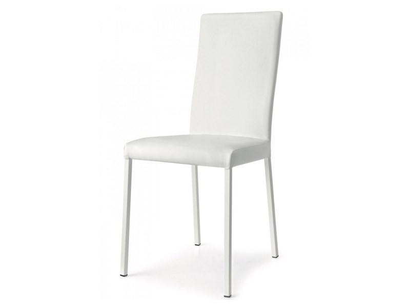 Sedia 6 sedie garda bianche Calligaris a prezzo scontato