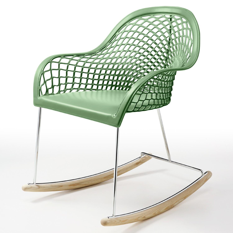 Sedia a dondolo, con particolare lavorazione della seduta, by Midj ...