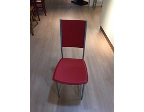 sedia alessia in cuoio rosso di cattelan itala