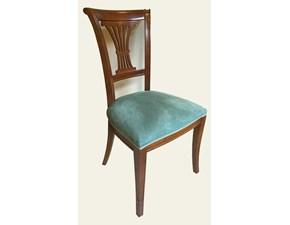 Sedia Art.105 sedia lira stoffa verde serie rc Artigiani veneti con un ribasso vantaggioso