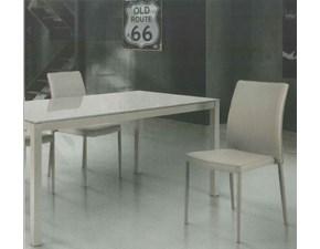 SEDIA Artigianale Atelier in ecopelle tortora -art.710 PREZZI OUTLET