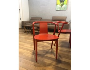 Sedia bac  legno rosso  Cappellini a prezzo scontato
