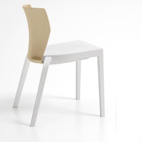 Sedia bi infiniti design moderno impilabile in for Sedia design moderno