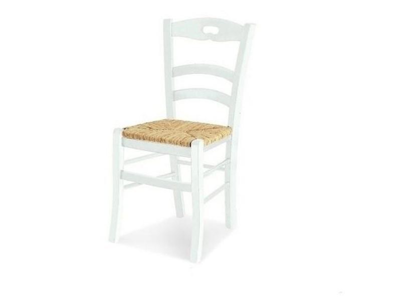 Sedia bianca impagliata a prezzo Outlet