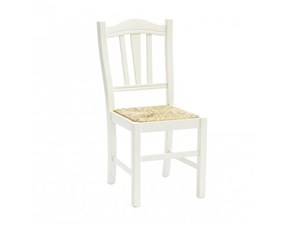 Sedia bianca impagliata a prezzo scontato