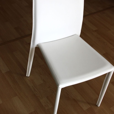 Sedia bianca in ecopelle sedie a prezzi scontati for Sedie bianche ecopelle
