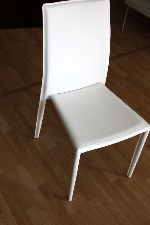 Sedia bianca in ecopelle sedie a prezzi scontati for Sedia design bianca