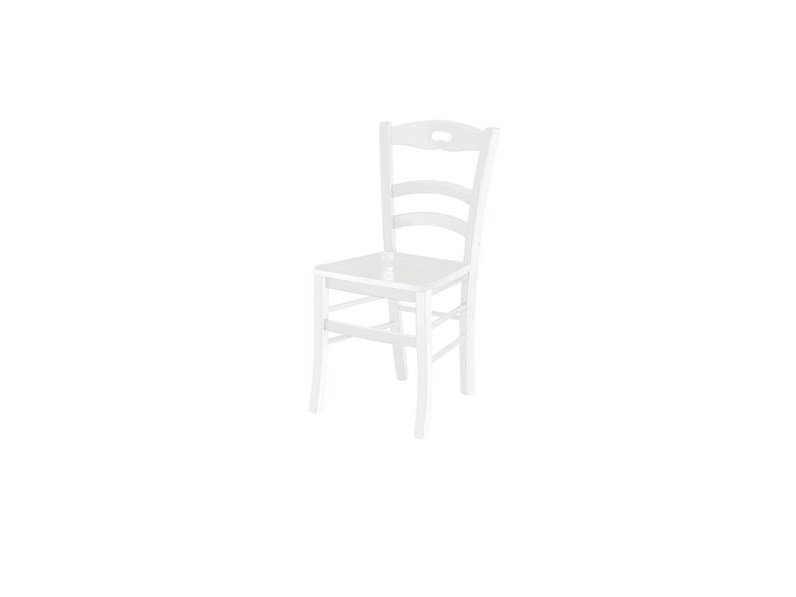 Sedia bianca in legno prezzi outlet for Sedie impagliate prezzi