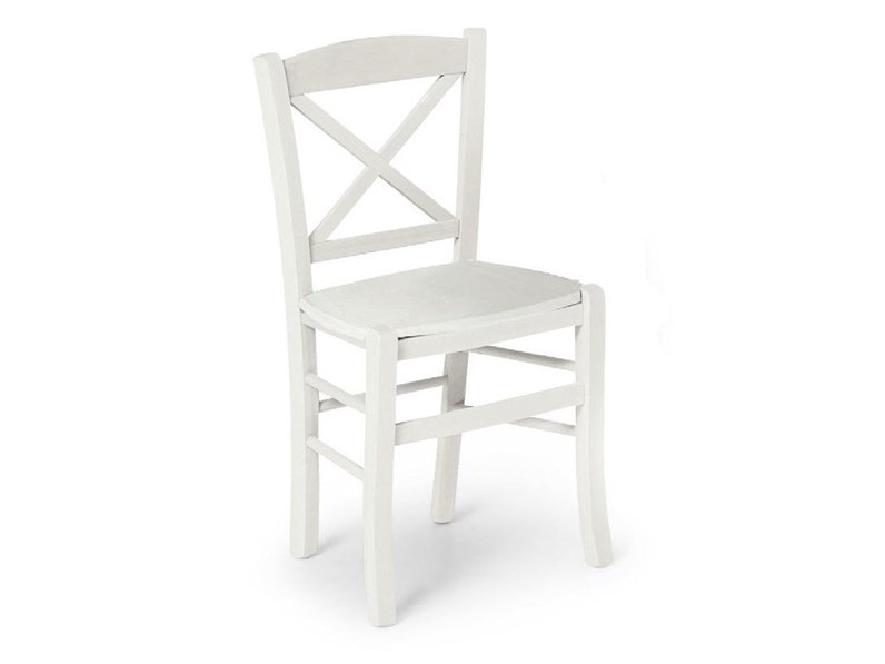 Sedia bianca in legno SCONTATA
