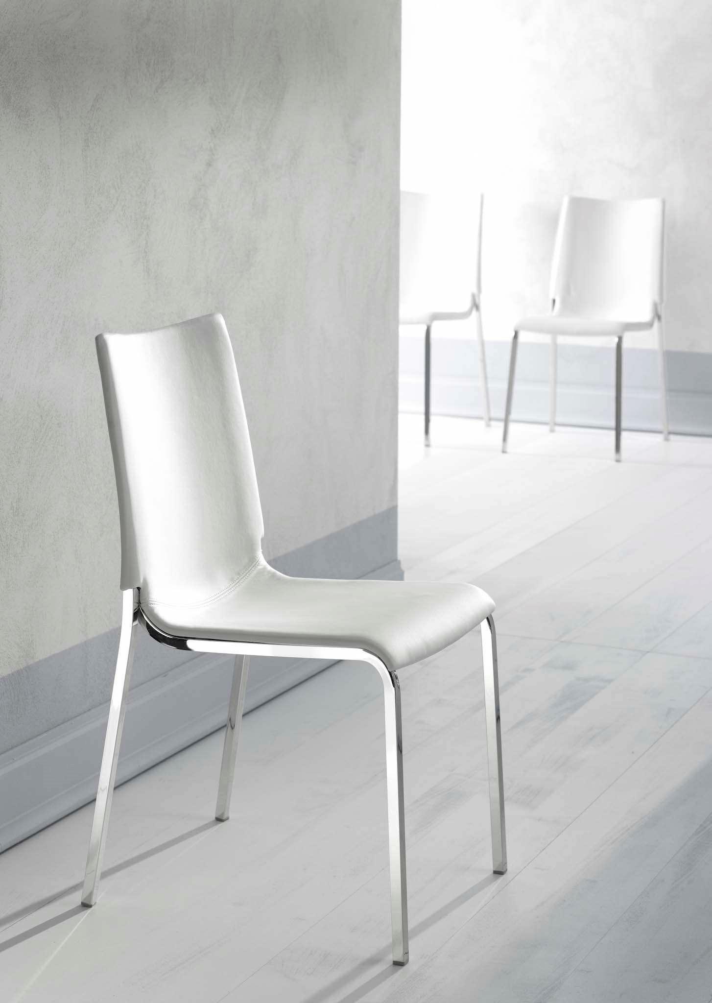 Sedia bontempi casa modello eva sedie a prezzi scontati for Sedia bianca cucina