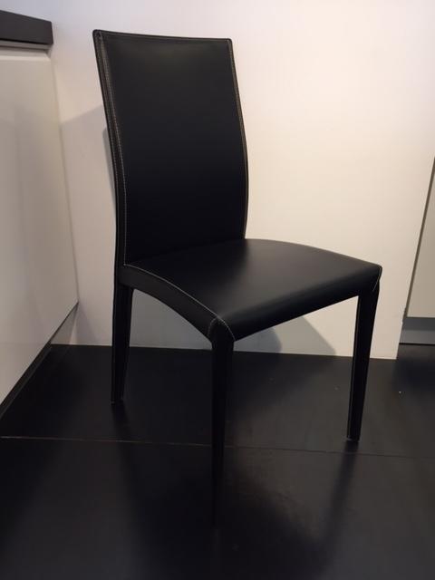 Sedia bontempi kefir in cuoio scontata del 32 sedie a for Sedie cuoio prezzi