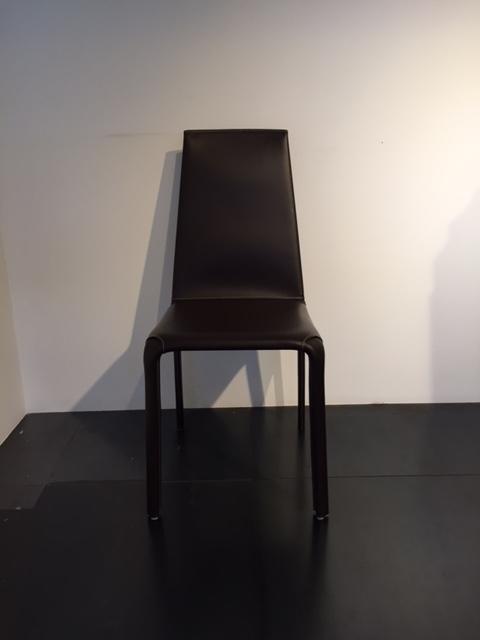 Sedia bontempi alice in cuoio moderno   sedie a prezzi scontati