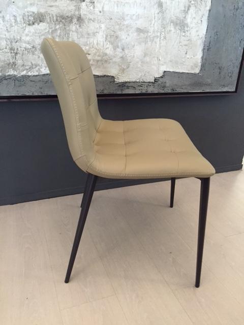 Sedia Bontempi Kuga in ecopelle Design Poltroncina - Sedie a prezzi scontati