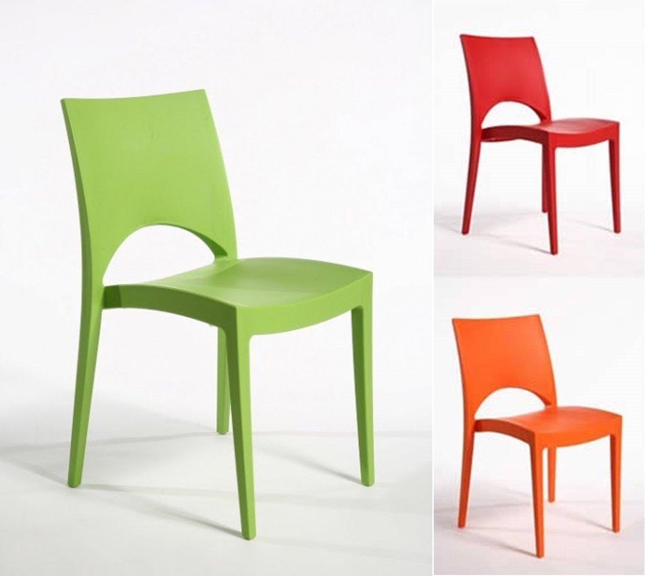 Sedie in plastica sedie impilabili cucina bar interno for Sedie impilabili plastica