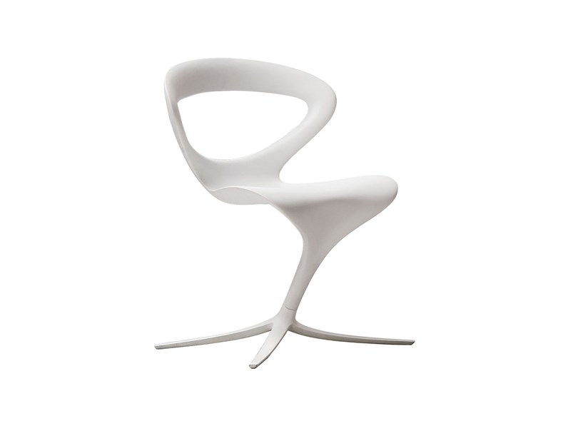 Sedia callita infiniti design moderno in poliuretano bianco for Sedie design outlet