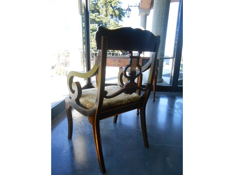 Sedia cappellini poltroncina inglese prezzi outlet for Sedie a poltroncina