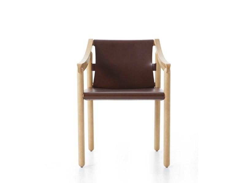 Sedia con braccioli 905 vico magistretti cassina in for Mobili cassina outlet
